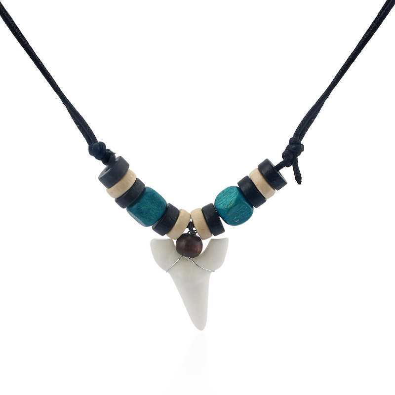 Collier pendentif surf requin dents surf requin mode choisir couleur - Bijoux fantaisie - Photo 3