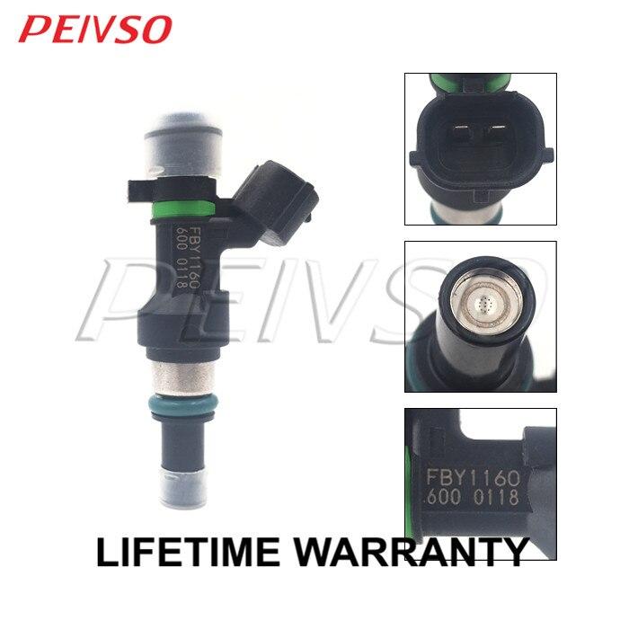 4x 16600-ED000 FBY1160 Einspritzventil für Nissan Versa 1.6L L4 2009 - Autoteile - Foto 2