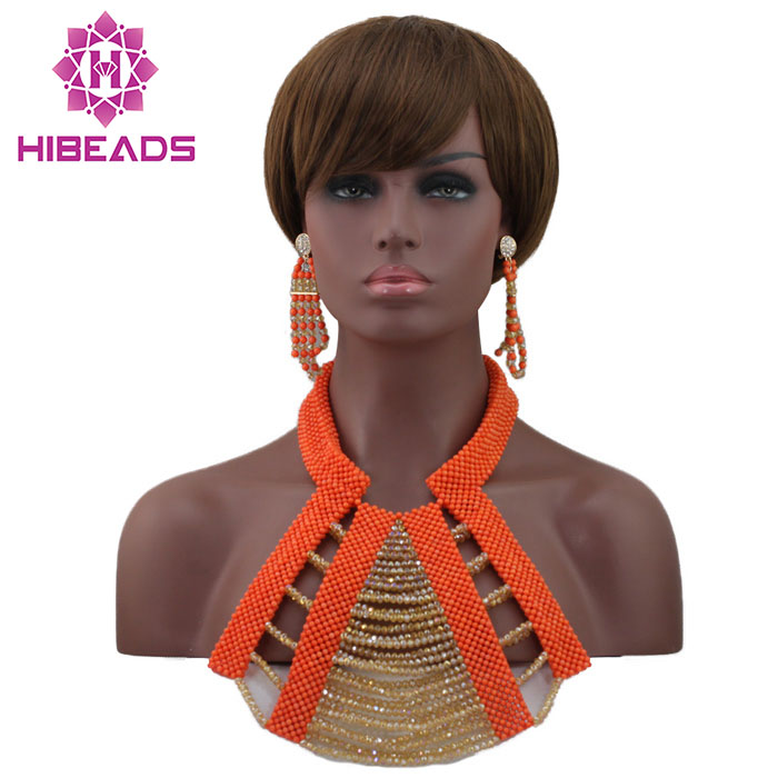 Elegant Dubai Bridal Gold Beads Chunky Jewelry Set Indian Wedding African Coral Beads Necklace Jewelry Free Shipping HX708Elegant Dubai Bridal Gold Beads Chunky Jewelry Set Indian Wedding African Coral Beads Necklace Jewelry Free Shipping HX708