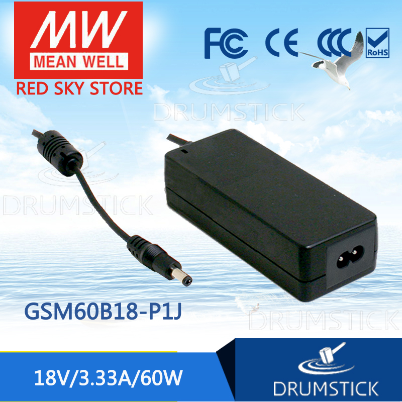 MEAN WELL GSM60B18-P1J 18V 3.33A meanwell GSM60B 18V 60W AC-DC High Reliability Medical Adaptor genuine mean well gsm60b12 p1j 12v 5a meanwell gsm60b 12v 60w ac dc high reliability medical adaptor
