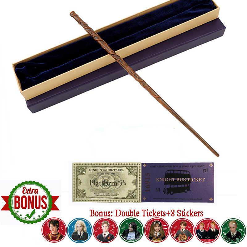 35 ซม.โลหะ core potters Magical Wand Hermione Dumbledore Voldemort Severus Snape Luna RON Magic Wand ของขวัญกล่อง HP ของเล่น