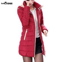 MOGE black long winter jacket women warm fashion winter coat doudoune femme jaqueta feminina casacos de inverno feminino