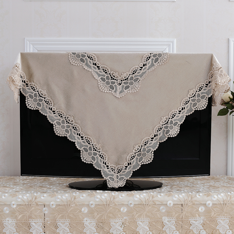 [WIT]85x85cm Lace Fabric Tablecloth Square Table Cloth Champagne Lace Table  Cloths For Wedding