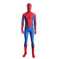 3D Print New Spider man Homecoming Spandex Zentai Costume Civil War Spiderman Costumes Spidey Cosplay Custom Movies Suit CM216