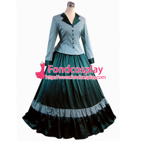 Free Shipping Gothic Lolita Punk Medieval Gown Figure Ball Long Evening Dress Jacket Tailor-made