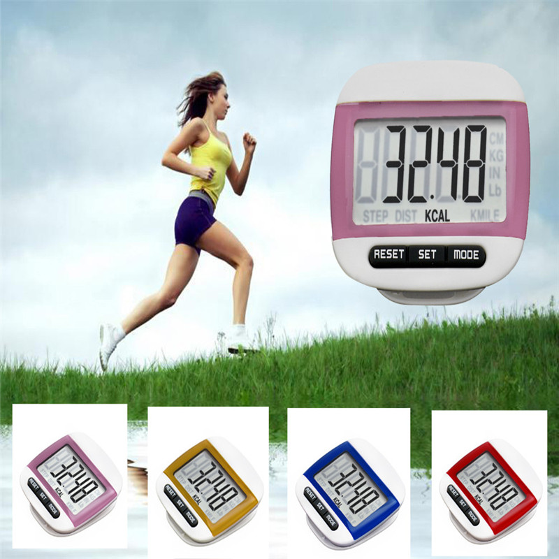 2018 LCD Digital Step Pedometer Walking Calorie Counter Distance Run Belt Clip New Safety & Survival Dropshipping Z818