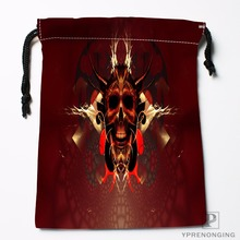 Custom Pink Skull House Drawstring Bags Printing Travel Storage Mini Pouch Swim Hiking Toy Bag Size 18x22cm#180412-11-94