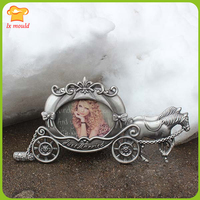LXYY MoldPumpkin Carriage Wedding Fold Sugar Cake Decorative Picture Frame Mold Continental Classical Court Carriage
