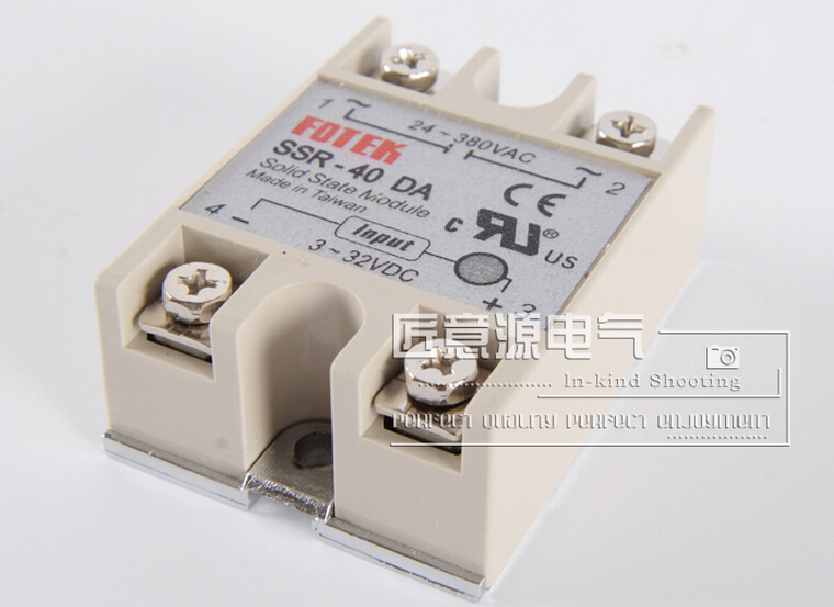 SSR-40DA Solid state relay 24-380VAC to 3-32VDC Real 40A Single-phase solid state relay SSR 40DA New and original Free shipping 3piece lot solid state relay ssr 50da 50a 250v 3 32vdc 24 380vac brand new