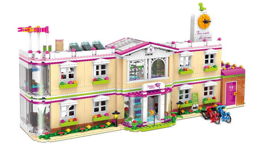 все цены на XINGBAO 12001 New 1750Pcs City Girl Series The Happy Teaching Set Building Blocks Educational Kids DIY Brick Toys Birthday Gift