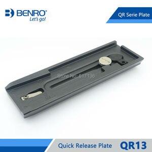 Image 2 - Benro QR13 plaque de fixation rapide aluminium professionnel QR13 plaque pour Benro S8 BV4 BV6 BV8 BV10 tête vidéo livraison gratuite