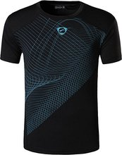 Men Tennis Outdoor sports Shirts , Breathable Badminton Shirt , table tennis tshirt Male , workout jogging clothing Custom Name