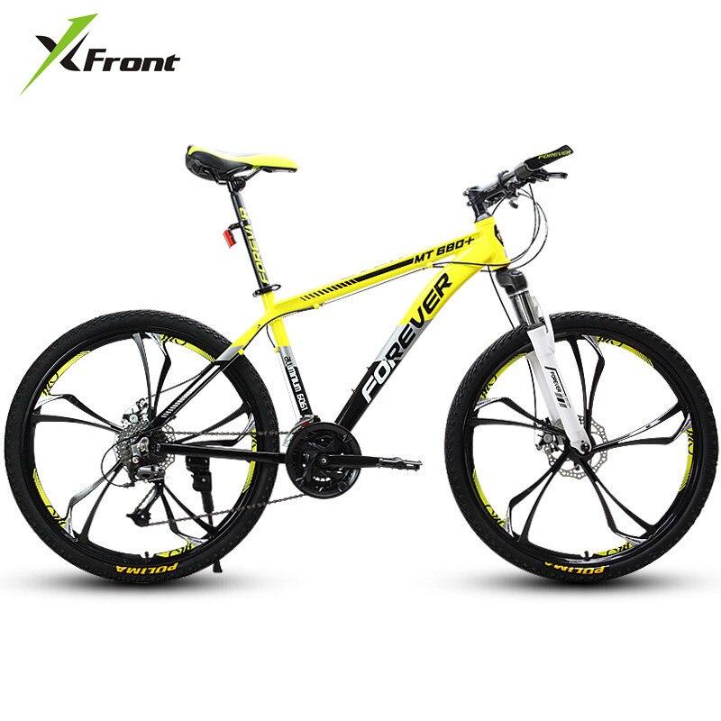 Nova marca Mountain Bike Frame Da Liga de Alumínio 27/30 Velocidade 26 polegada Rodas MTB Bicicleta Freio de Disco Duplo Bicicleta Esportes Ao Ar Livre