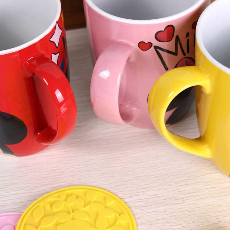 500 мл Дисней Микки кофейные кружки для Дома Офиса мультфильм чашка модный пух Минни керамическая кружка чашка Милая чашка с Ложка Крышка и коврик