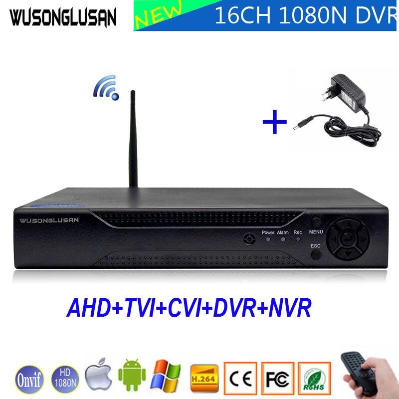 1080N 16 Canal 16CH 5 dans 1 Wifi Coaxial Hybride XMeye DVR Onvif P2P Wifi 1080 p NVR CVI TVi AHD IP CCTV Caméra de Surveillance À Domicile