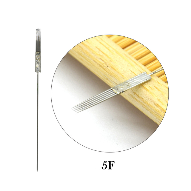 50pcs Microblading Needles 1R/3R/5R/5F/7F Tattoo Machine Needles Disposable Sterile Microblades Permanent Makeup Tattoo Supplies 4