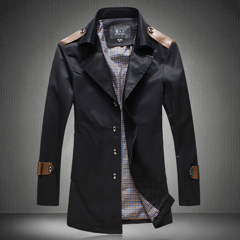 Trench coat men long veste homme overcoat mens jackets and coats ...