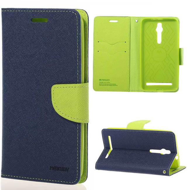 New Stylish MSK Diary Magnetic Leather wallet Stand Cover case for flip Asus zenfone 2 ZE551mL freeshipping phone bags