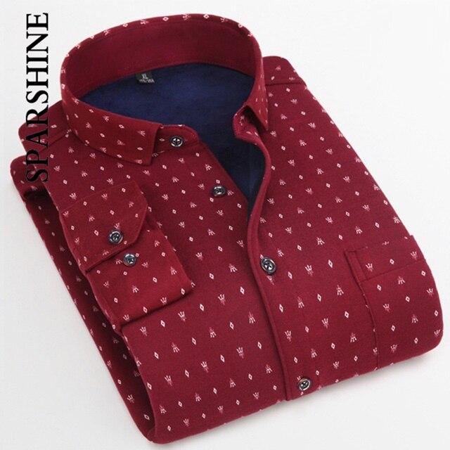 c8d155abd09 Stylish Cool Men s Flannel Warm Casual Shirts Top Quality Mens Long Sleeve Top  Men Printing Dress