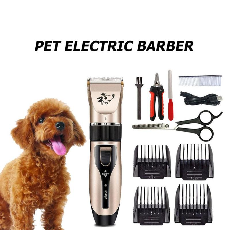 Electric Scissor Pet Hair Remover Grooming Clipper Dog Cat Professional Hair Trimmer Cutter Charging Via USB Plug and Play Handy