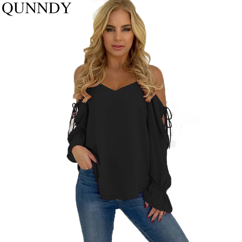 Women's Clothing Lovely 2018 Fashion Women Off Shoulder Open Back Embroidery Foldover Tunic Tops Dropship B15 A#487