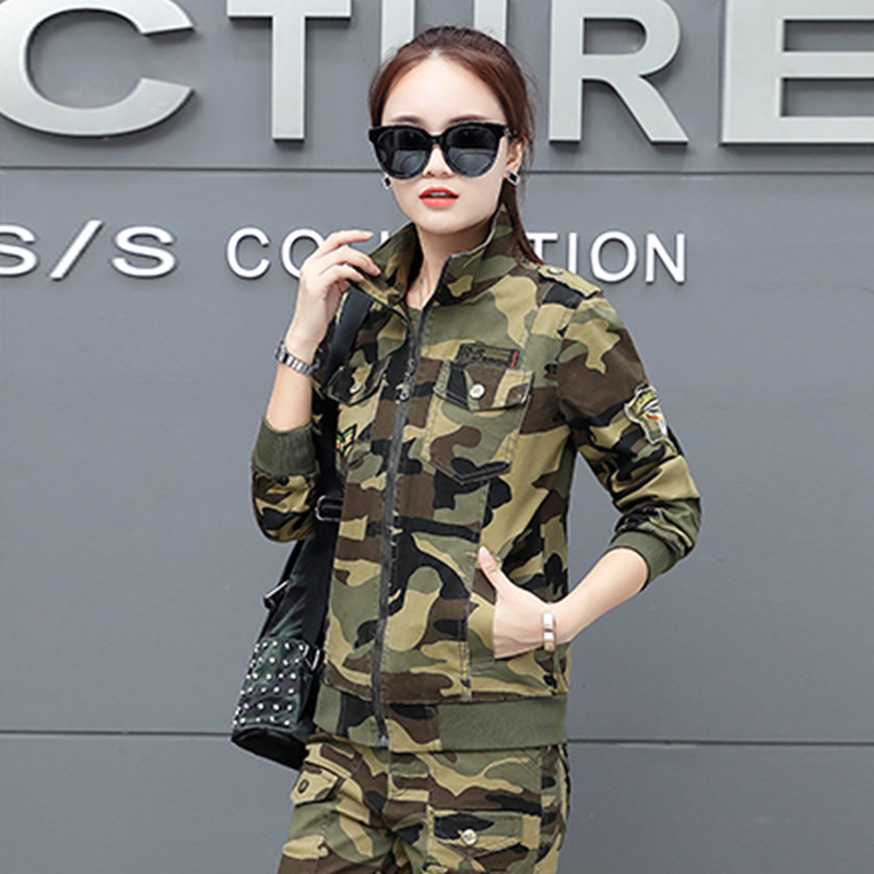 e19c9ae6dbf47 Women Military Army Green Jacket With Epaulets New 2018 Ladies Army Jackets  Embroidery Womens Casual Cargo Jacket 3852-in Basic Jackets from Women's ...
