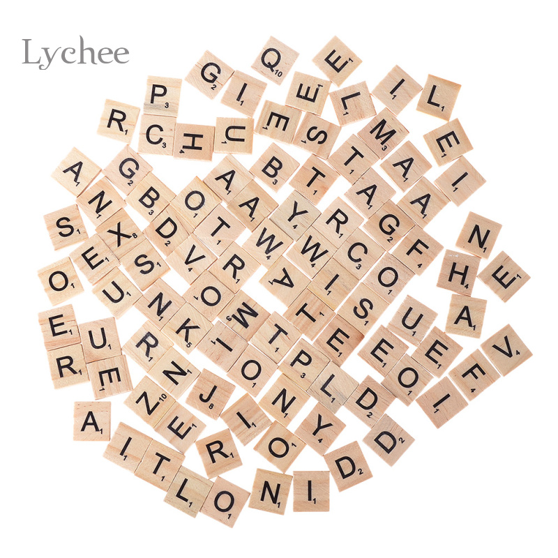 lychee 1 set blank unfinished wooden letters crafts supplies laser cut rustic wood wedding rings ornaments