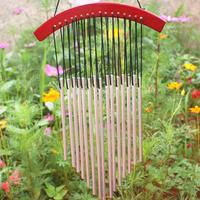 New Russian Style 15 Tubes Wind Chimes For Garden Yard Garden Outdoor Wind Chimes Wood Mental