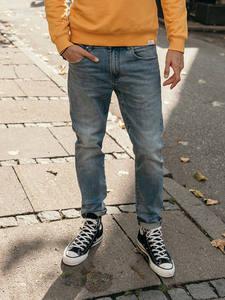 SIMWOOD Men Jean Straight Male Pants Denim Trousers