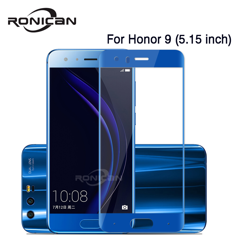 RONICAN Anti-Scratch 0.26mm Tempered Glass For Huawei Honor 9 9 Lite V9 Screen Protector For Honor V10 9 Lite Protective Glass