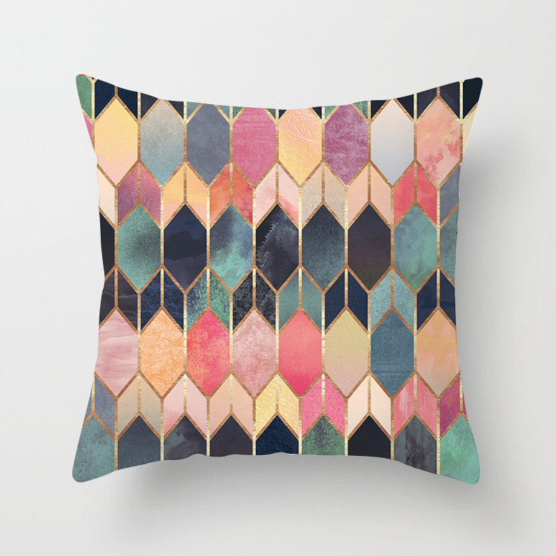 Colorful Geometry Pattern Cushion Covers Home Decorative