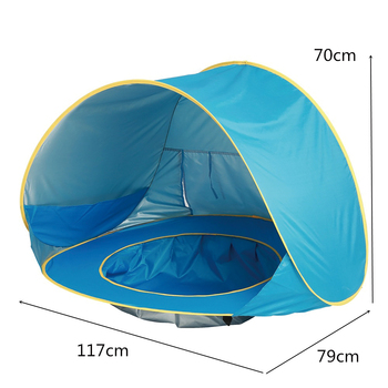 Baby Beach Tent Waterproof Pop Up Awning Tent Uv-protecting Sunshelter with Pool Kids Outdoor Camping Sunshade Beach Tent Toys 1