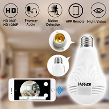 Daytech HD 2MP 1080P/960P CCTV Wifi Camera Video Audio Indoor Night Vision Panoramic Wide View Fisheye IP Camera lampada camera
