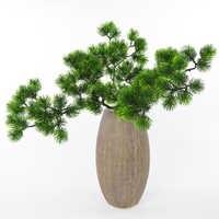 Flores Artificiales Para decoración Hogar Artificial Rama de pino verde Artificial planta Pino Artificial de la aguja
