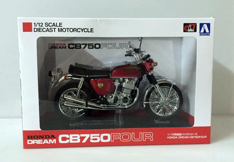 Aoshima Honda Dream CB750Four (KO) 1:12 Scale DieCast Motorcycle Red Japan
