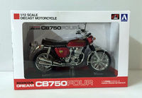 Aoshima Honda Dream CB750Four (KO) 1:12 Scale DieCast Motorcycle Red Japan
