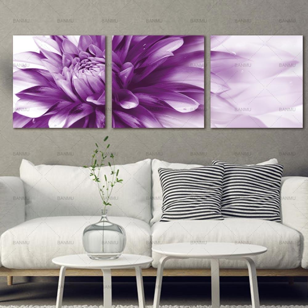 Kanvas lukisan, Seni dinding bunga seni HD Giclee seni cetak di atas - Dekorasi rumah - Foto 5