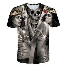 New product launch Beauty&Skull King 3D Print t shirt Men Women tshirt Summer Funny Short Cosual Sleeve Round Meck T-shirt Tops