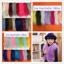 Factory direct batch artificial plush large fur imitation fox fabric 50MM clothing collar