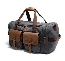 Fitting Duffel Bag Fashion Travel Bag Men Fit Stuff Packing Bag Waterproof Canvas Duffel Leather Duffel Bag