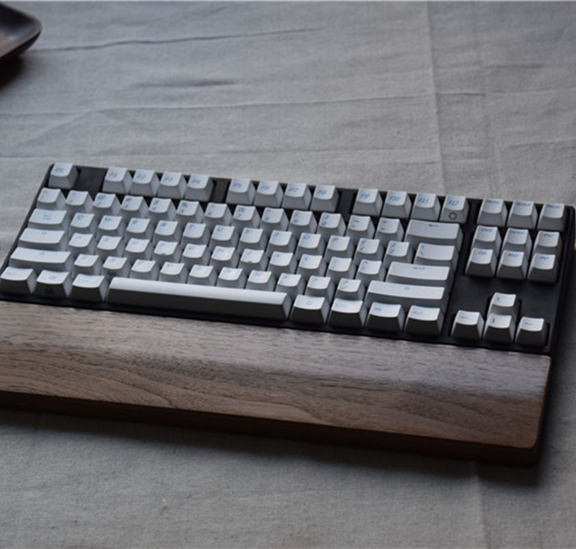 hohe qualitat holz mechanische tastatur handballenauflage pad handgelenkstutze hand pad fur mechanische tastatur nussbaum fur 60 87 104 schlussel