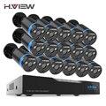H. View 16CH системы скрытого видеонаблюдения 16 1080 P Открытый безопасности камера 16CH комплект видеорегистратора скрытого наблюдения товары теле...