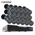 H. view 16CH Surveillance Systeem 16 1080 P Outdoor Bewakingscamera 16CH CCTV DVR Kit Video Surveillance iPhone Android Remote View