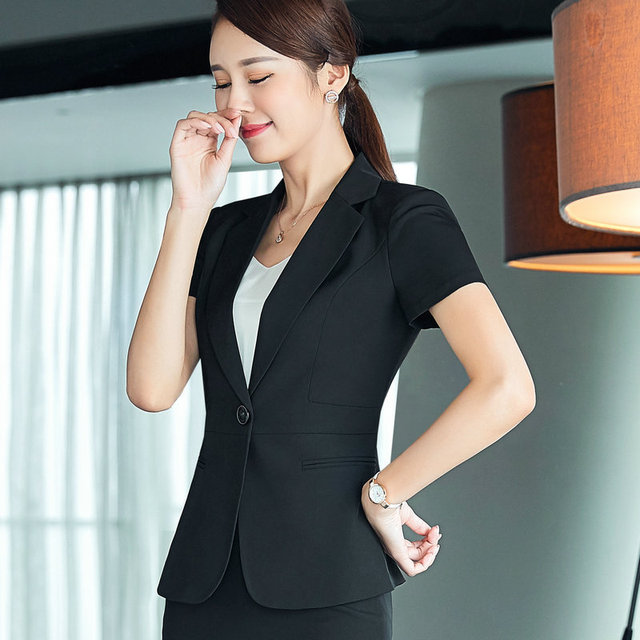 9983609453e 2017 New Slim Sumer Women Short Sleeve Formal Blazer Work Office Lady  Business Outwear Tops Casual