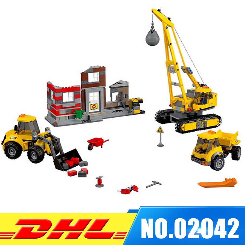 Lepin 02042 city series demolition site set The Christmas gift Geuine 60076 Building Blocks Bricks Educational DIY Gifts for Boy