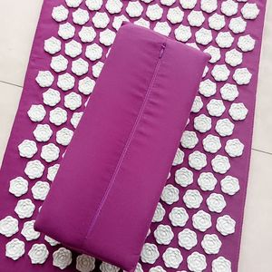 Image 3 - Massager Cushion(Appro.62*38cm) Acupuncture Sets Acupressure Lotus Spike Mat & Pillow Toe Separator Massage and Relaxation