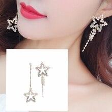 2019 Hot Style High-quality Elegant Temperament Pearl Star Tassel Earrings Female Pendant