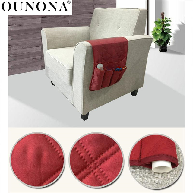 Sofa Armrest Rest Organizer Storage Bag Couch Armchair Hanging Storage Bag  For TV Remote Control Cellphone
