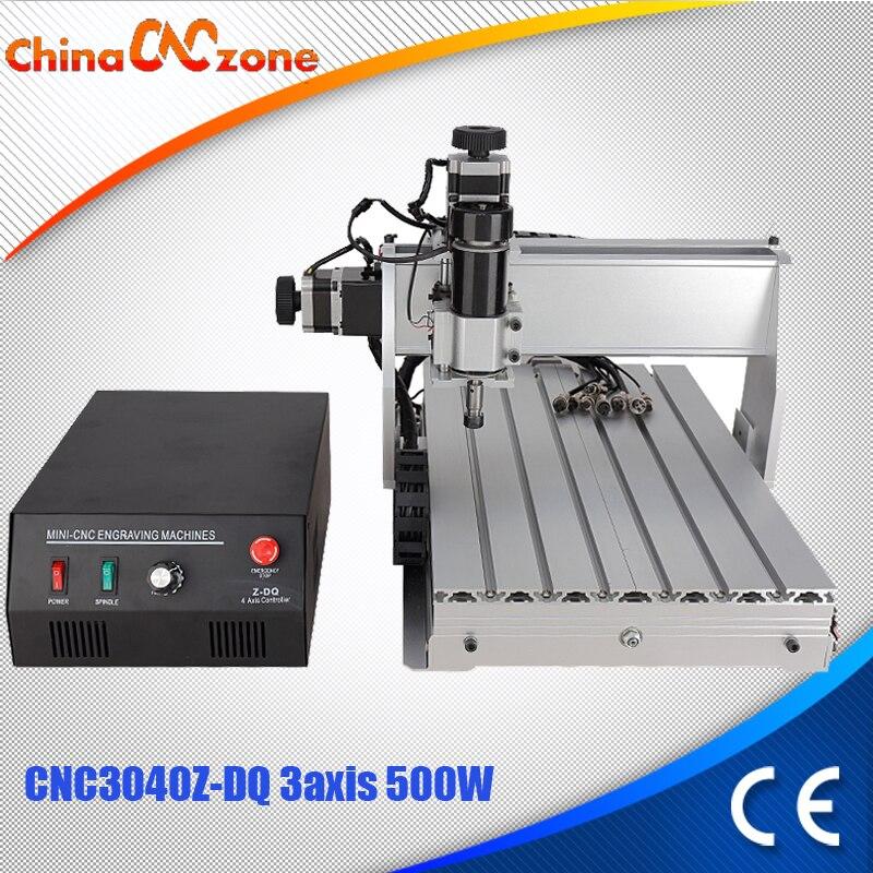 CNC 3040 Z-DQ 3 оси ЧПУ гравер ШВП фрезерными бурения гравировка машина мини-cnc 3040 500 вт №