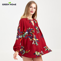 Green Home Winter Print Nursing Clothing Pregnant Women Thicken Loose Wear Breastfeeding Nursing Tops Pregnancy Shirt